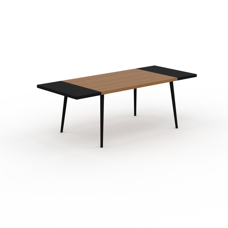 MYCS Table à manger - Chêne, design scandinave, pour salle à manger ou cuisine nordique, table extensible à rallonge - 220 x 75 x 90 cm