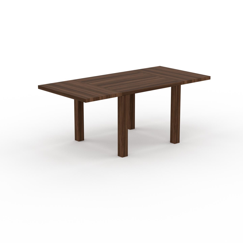 MYCS Table à manger extensible - Noyer, moderne, pour salle à manger ou cuisine, avec deux rallonges - 190 x 76 x 90 cm, personnalisable