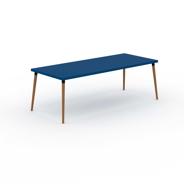 MYCS Table à manger - Bleu, design scandinave, pour salle à manger ou cuisine nordique - 220 x 75 x 90 cm, personnalisable