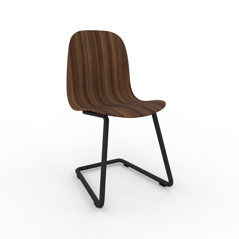 MYCS Chaise cantilever Noyer de 49 x 83 x 44 cm au design unique, configurable