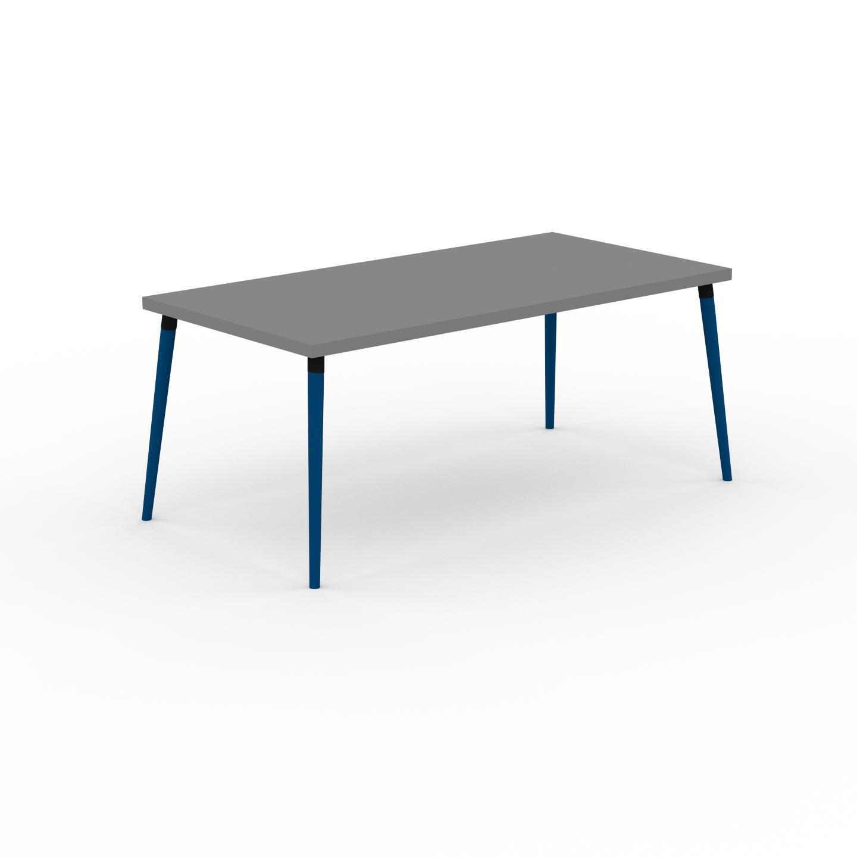 MYCS Table à manger - Gris, design scandinave, pour salle à manger ou cuisine nordique - 180 x 75 x 90 cm, personnalisable