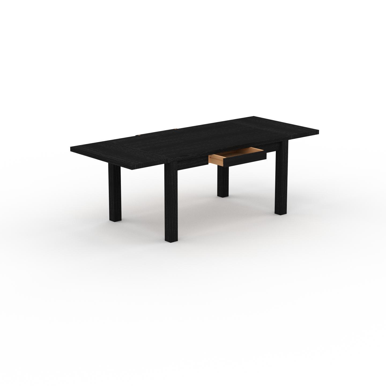 MYCS Table à manger extensible - Wengé, moderne, pour salle à manger ou cuisine, avec deux rallonges - 220 x 76 x 90 cm, personnalisable