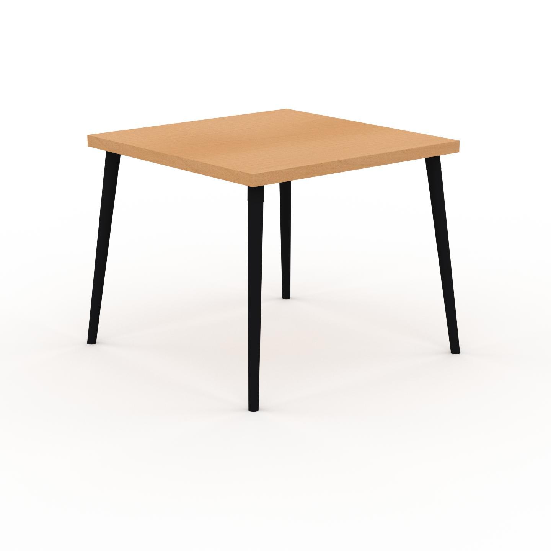 MYCS Table à manger - Hêtre, design scandinave, pour salle à manger ou cuisine nordique - 90 x 75 x 90 cm, personnalisable