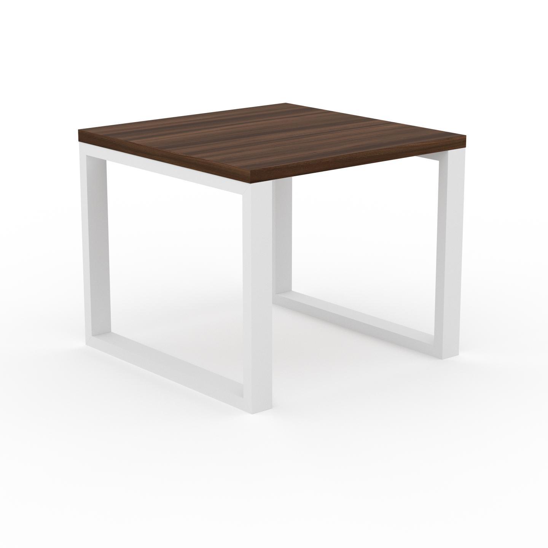 MYCS Table à manger - Noyer, design, pour salle à manger ou cuisine plateau de qualité - 90 x 75 x 90 cm, personnalisable