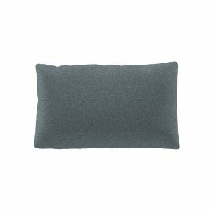 MYCS Coussin Bleu Glacier - 30x50 cm - Housse en Laine chinée. Coussin de canapé moelleux
