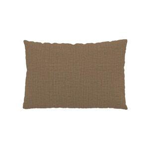 MYCS Coussin Brun Caramel - 40x60 cm - Housse en Textile tissé. Coussin de canapé moelleux - Publicité