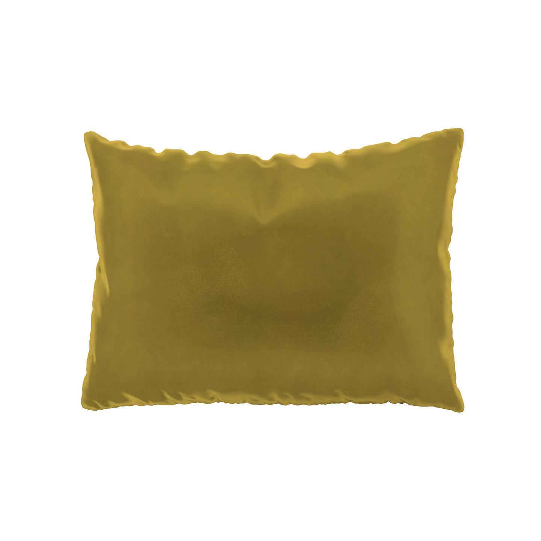 MYCS Coussin Jaune Colza - 48x65 cm - Housse en Velours. Coussin de canapé moelleux