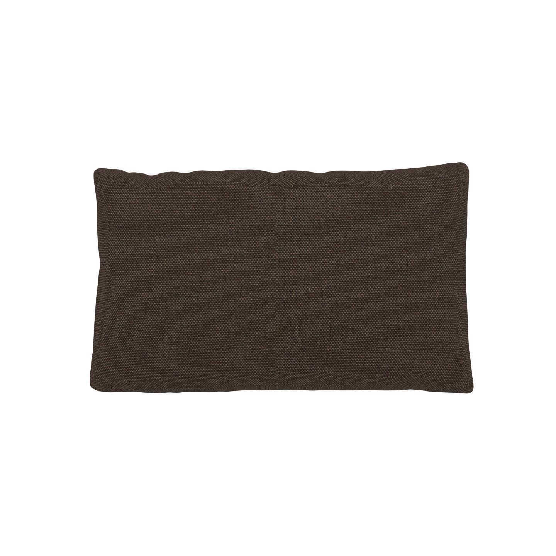 MYCS Coussin Brun Café - 30x50 cm - Housse en Tissu Fin. Coussin de canapé moelleux