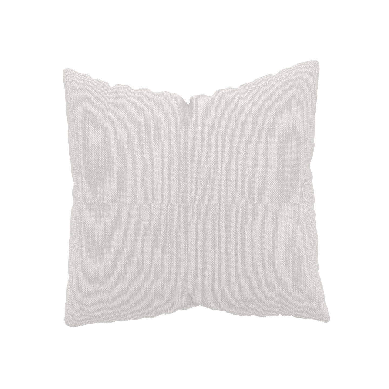MYCS Coussin Blanc - 50x50 cm - Housse en Textile tissé. Coussin de canapé moelleux