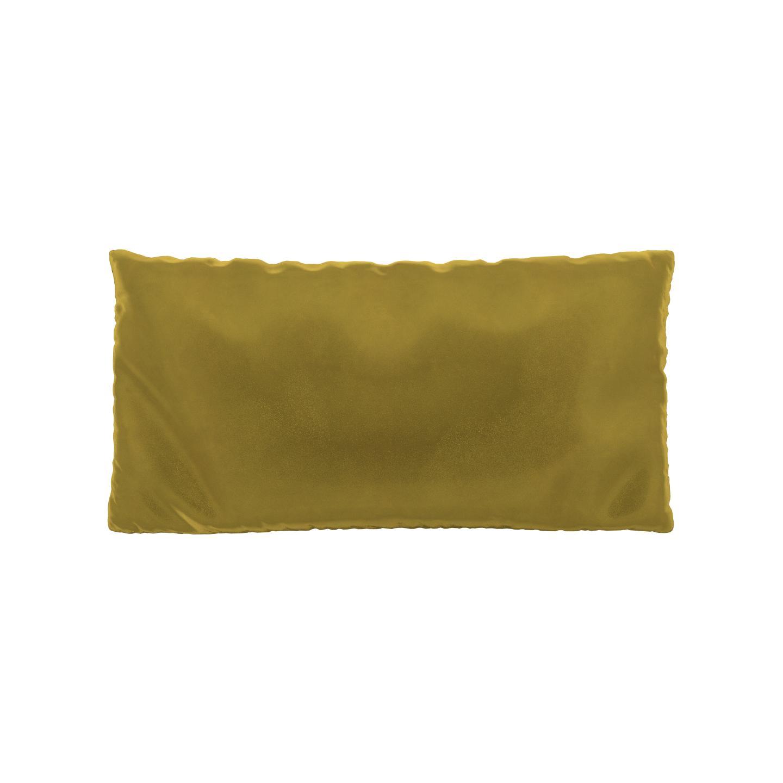 MYCS Coussin Jaune Colza - 40x80 cm - Housse en Velours. Coussin de canapé moelleux