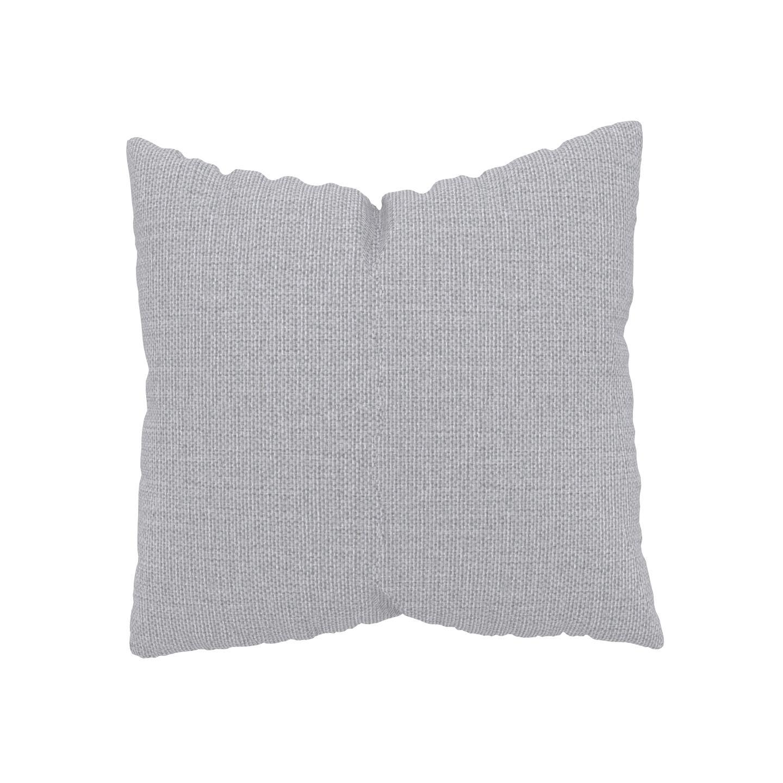 MYCS Coussin Gris Clair - 50x50 cm - Housse en Tissu Fin. Coussin de canapé moelleux