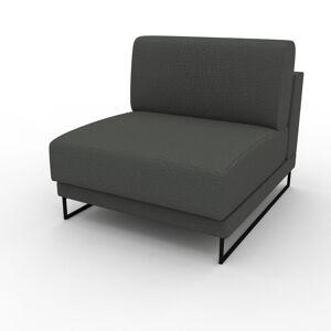 MYCS Fauteuil - Gris Pierre, modèle épuré, grand fauteuil en tissu avec pieds personnalisables - 80 x 75 x 98 cm, modulable - Publicité