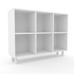 MYCS Range CD - Blanc, design contemporain, meuble pour vinyles, DVD - 118 x 91 x 35 cm, personnalisable - Publicité