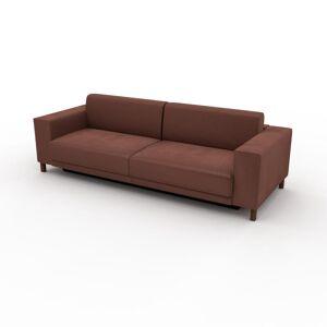 MYCS Canapé convertible Velours - Vieux Rose, design épuré, canapé lit confortable, confortable avec coffre de rangement - 248 x 75 x 98 cm, modulable - Publicité