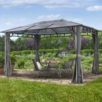 Intent24.fr Tonnelle de jardin 3x4m plaque polycarbonate 8 mm gris imperméable <br /><b>1549.95 EUR</b> INTENT24