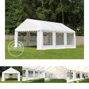 Intent24.fr Tente de réception 4x6m PVC 500 g/m² gris imperméable barnum, chapiteau - Publicité