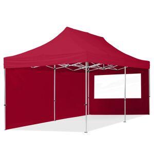 Intent24.fr Tente pliante 3x6m Polyester haute qualité 300 g/m² rouge imperméable barnum pliant, tonnelle pliante - Publicité
