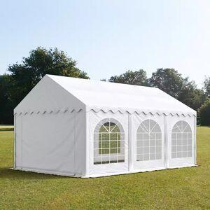 Intent24.fr Tente de réception 4x6m PVC 500 g/m² blanc imperméable barnum, chapiteau - Publicité