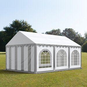 Intent24.fr Tente de réception 3x6m PVC 500 g/m² gris imperméable barnum, chapiteau - Publicité