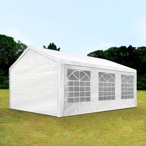 Intent24.fr Tente de réception 4x6m PE 180g/m² blanc imperméable barnum, chapiteau - Publicité