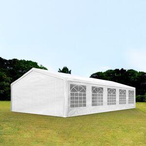Intent24.fr Tente de réception 5x10m PE 180g/m² blanc imperméable barnum, chapiteau - Publicité