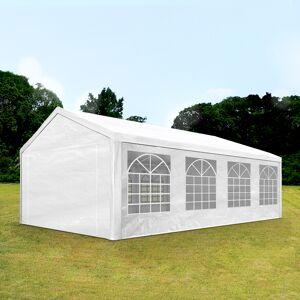 Intent24.fr Tente de réception 4x8m PE 180g/m² blanc imperméable barnum, chapiteau - Publicité
