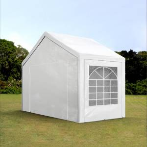 Intent24.fr Tente de réception 3x2m PE 180g/m² blanc imperméable barnum, chapiteau - Publicité