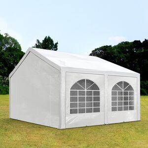 Intent24.fr Tente de réception 4x4m PE 240g/m² blanc imperméable barnum, chapiteau - Publicité