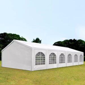 Intent24.fr Tente de réception 6x12m PE 240g/m² blanc imperméable barnum, chapiteau