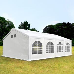 Intent24.fr Tente de réception 4x8m PE 300 g/m² blanc imperméable barnum, chapiteau - Publicité