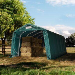 Intent24.fr Tente de pâturage 3,3x7,2m PVC 720 g/m² vert imperméable - Publicité