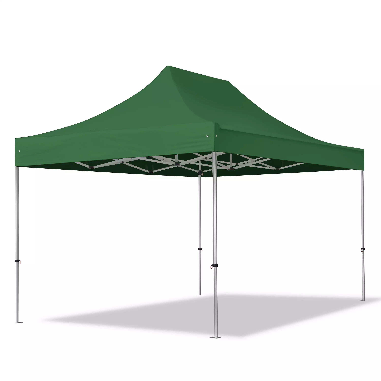 Intent24.fr Tente pliante 3x4,5m Polyester haute qualité 400 g/m² vert imperméable barnum pliant, tonnelle pliante
