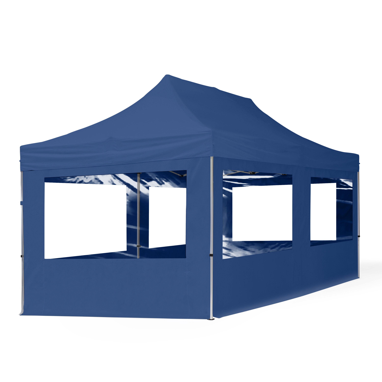 Intent24.fr Tente pliante 3x6m Polyester haute qualité 300 g/m² bleu imperméable barnum pliant, tonnelle pliante