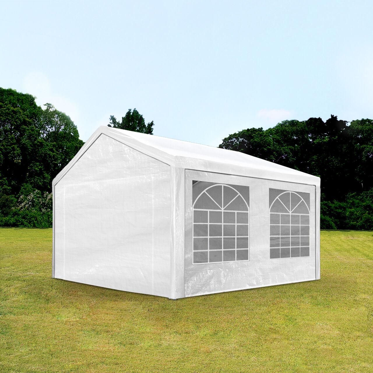 Intent24.fr Tente de réception 3x4m PE 180g/m² blanc imperméable barnum, chapiteau