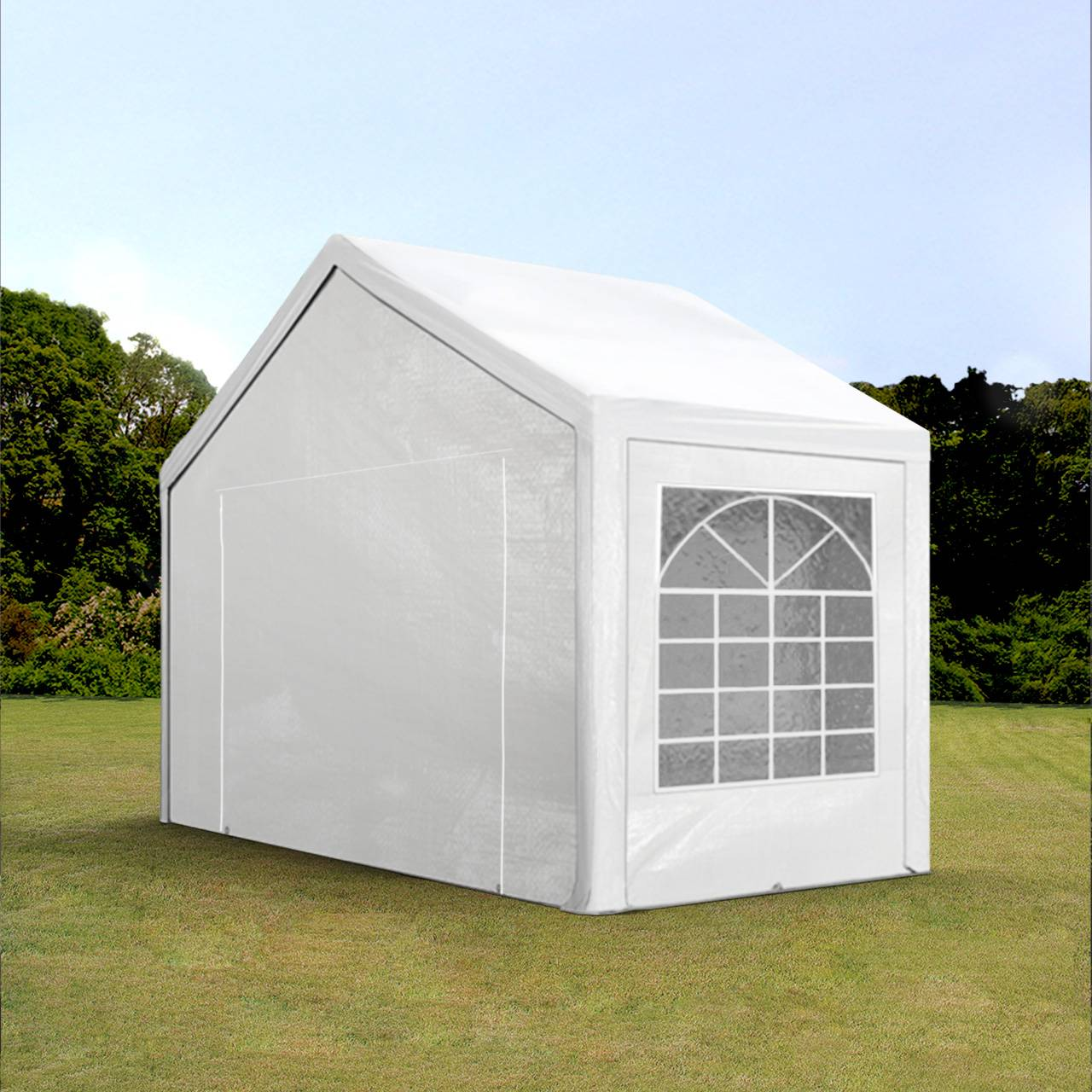 Intent24.fr Tente de réception 3x2m PE 180g/m² blanc imperméable barnum, chapiteau