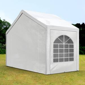 Intent24.fr Tente de réception 3x2m PE 240g/m² blanc imperméable barnum, chapiteau - Publicité