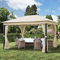 Intent24.fr Tonnelle de jardin 3x4m Polyester pelliculé polyuréthane 280 g/m² champagne imperméable <br /><b>689.95 EUR</b> INTENT24