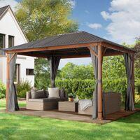 Intent24.fr Tonnelle de jardin 3x4m galvanisierter Acier 0,65 mm gris imperméable <br /><b>1699.95 EUR</b> INTENT24