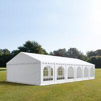 Intent24.fr Tente de réception 6x12m PVC 500 g/m² blanc imperméable barnum, chapiteau <br /><b>1099.95 EUR</b> INTENT24