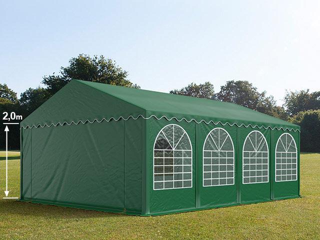 Intent24.fr Tente de réception 5x8m PVC 550 g/m² vert imperméable barnum, chapiteau