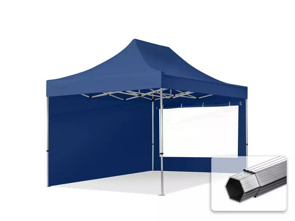 Intent24.fr Tente pliante 3x4,5m Polyester haute qualité 400 g/m² bleu imperméable barnum pliant, tonnelle pliante