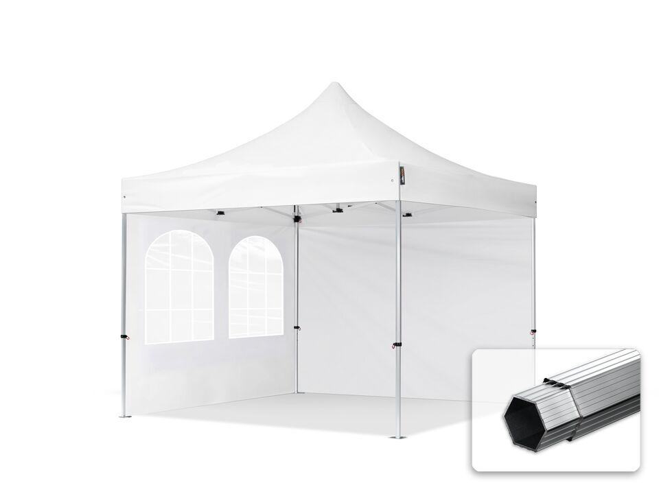 Intent24.fr Tente pliante 3x3m Polyester haute qualité 400 g/m² blanc imperméable barnum pliant, tonnelle pliante