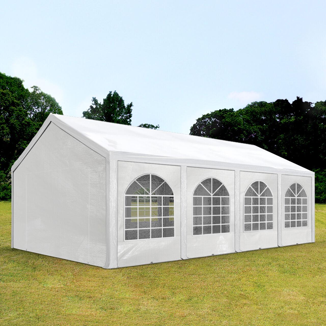 Intent24.fr Tente de réception 3x9m PE 240g/m² blanc imperméable barnum, chapiteau