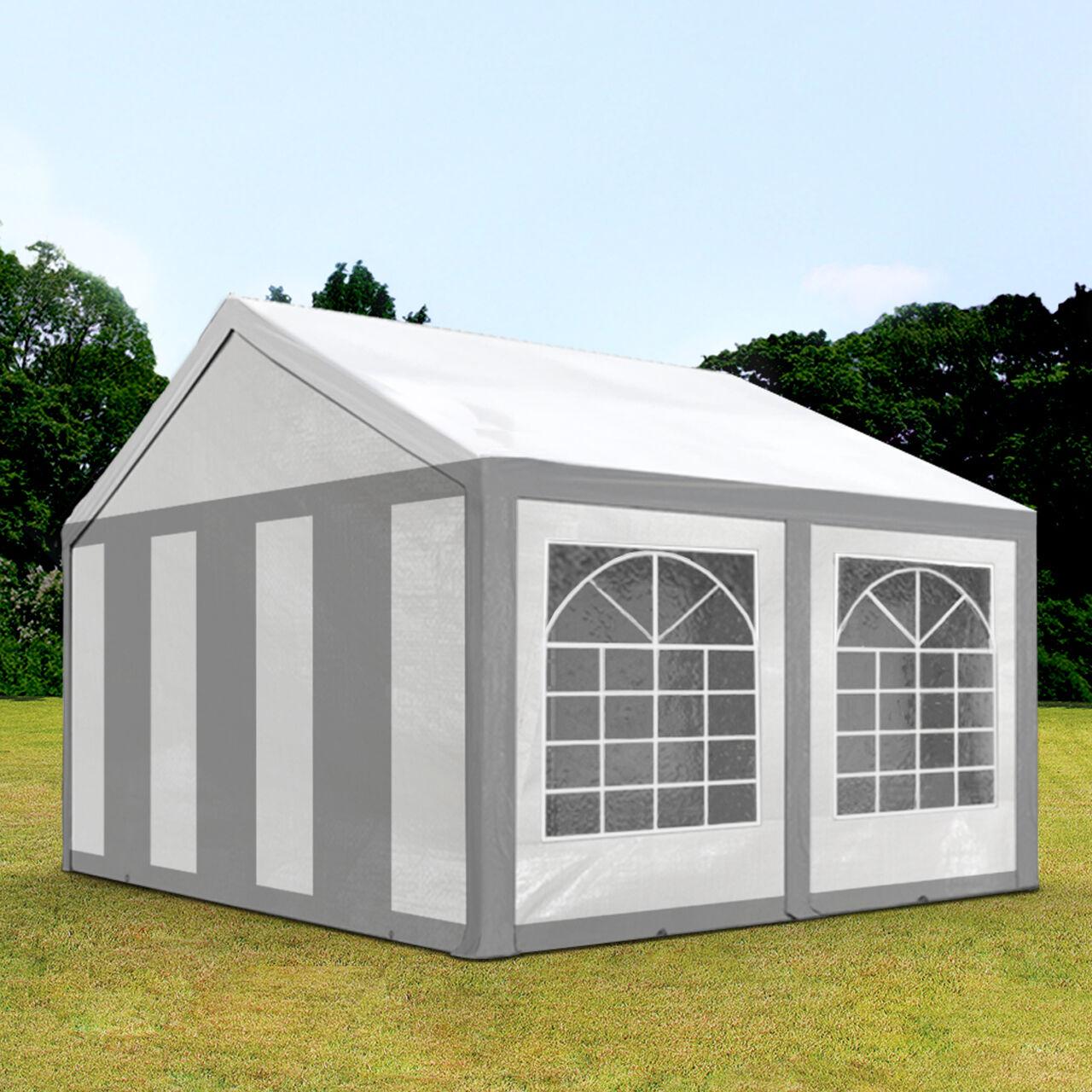 Intent24.fr Tente de réception 3x4m PE 240g/m² gris imperméable barnum, chapiteau