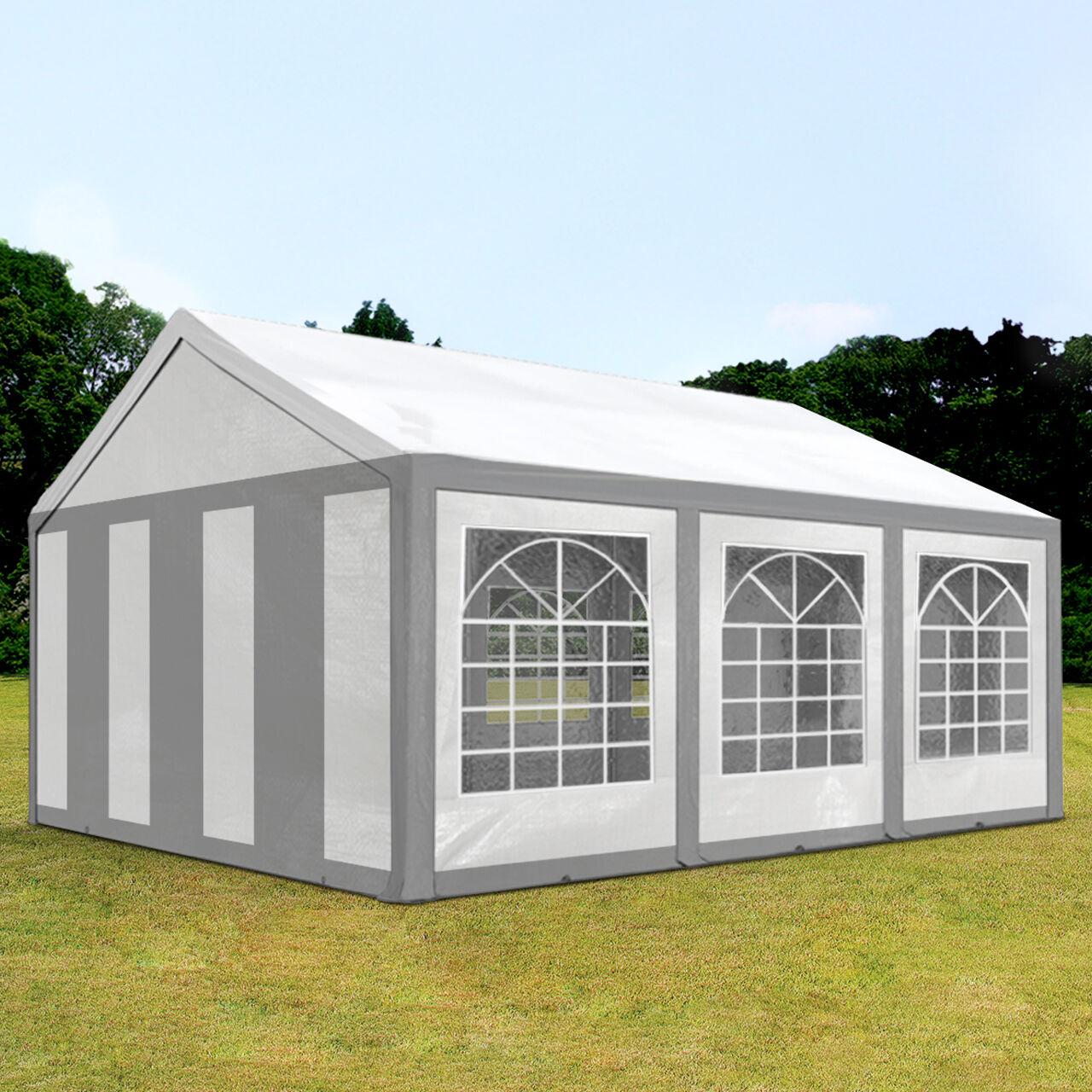 Intent24.fr Tente de réception 3x6m PE 240g/m² gris imperméable barnum, chapiteau