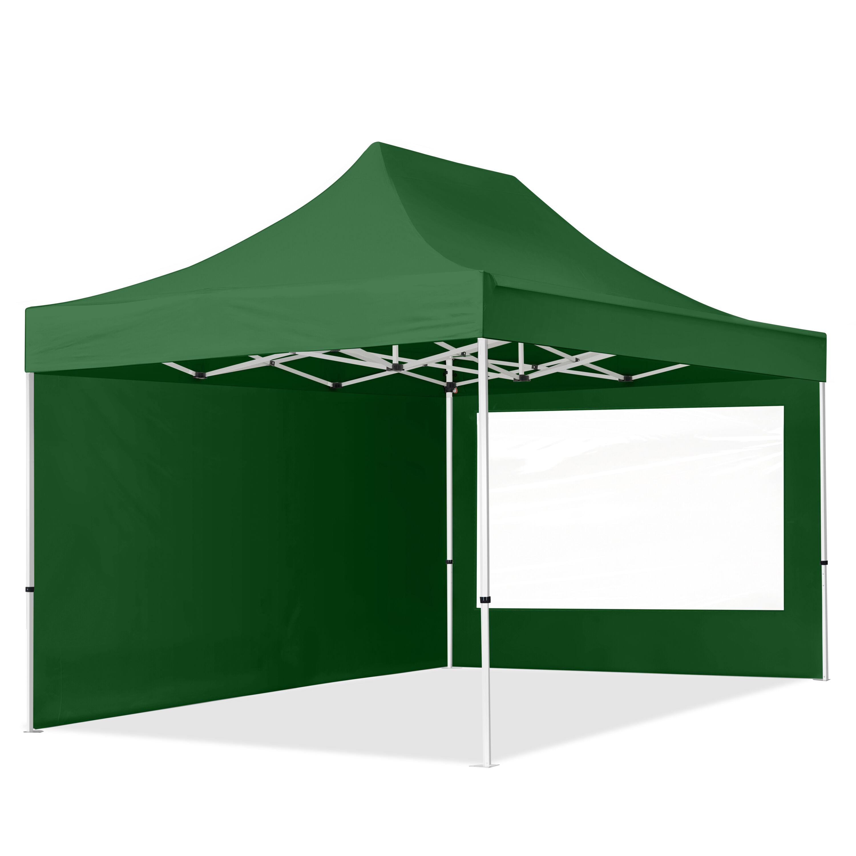 Intent24.fr Tente pliante 3x4,5m Polyester haute qualité 300 g/m² vert imperméable barnum pliant, tonnelle pliante
