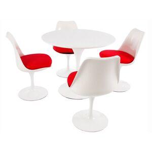Famous Design Table Tulip Saarinen et 4 chaises - Publicité