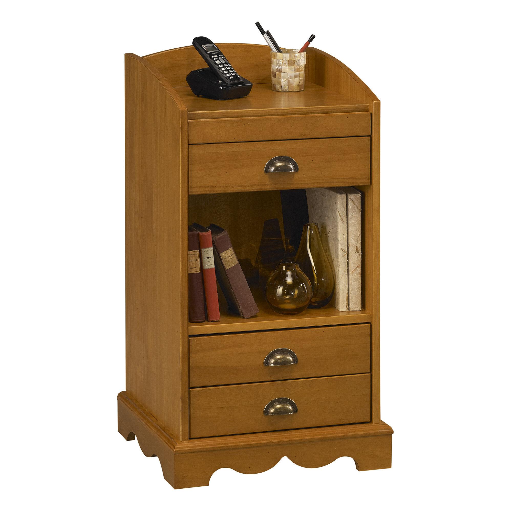 Meuble d'entrée ou meuble pour téléphone en pin miel - AUTHENTIC PIN MIEL