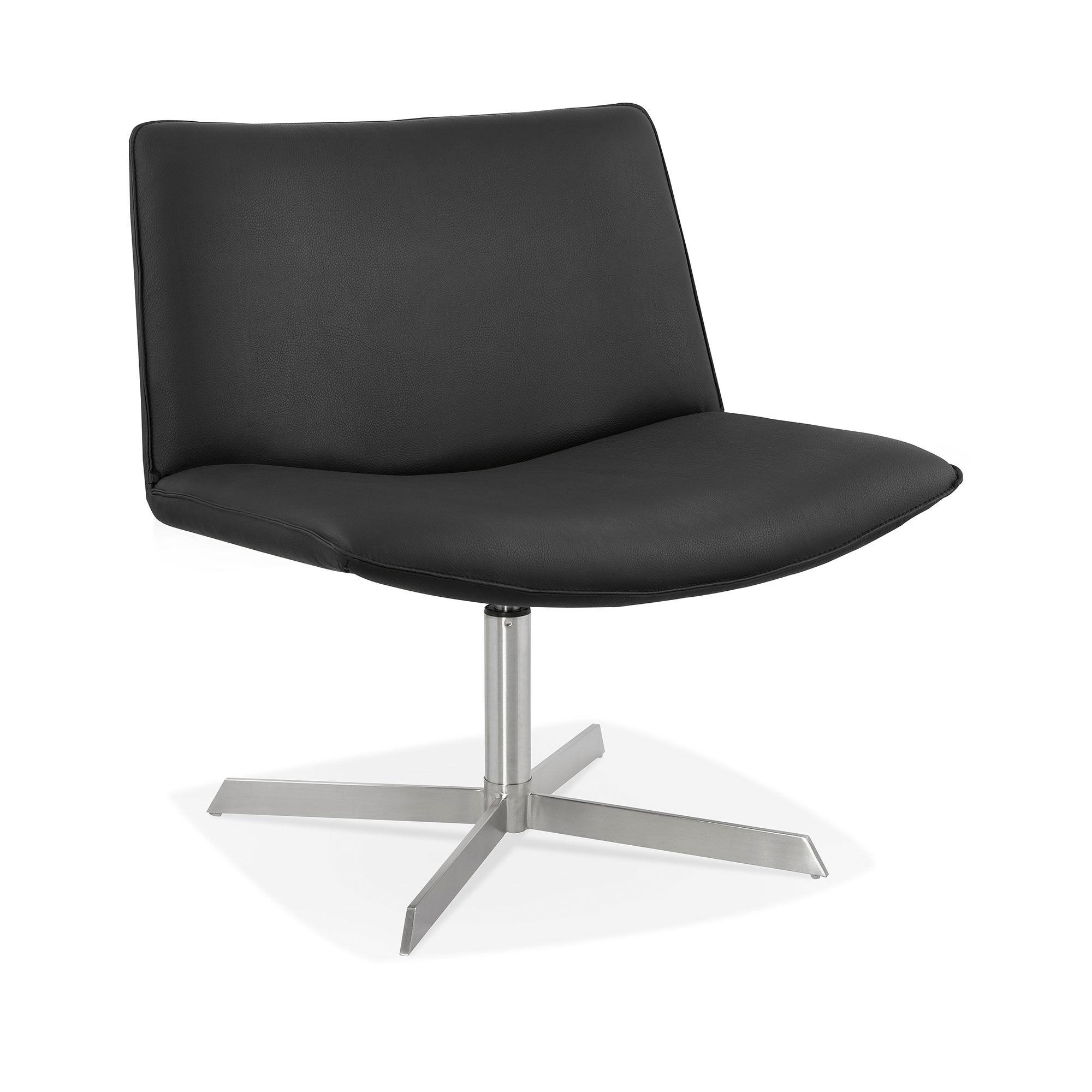 Chaise design 66x71,5x77 cm en PU noir