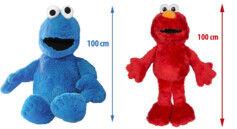 Sesame Street 2 peluches XXL Sesame Street